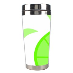 Fruit Lime Green Stainless Steel Travel Tumblers by Alisyart