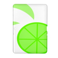 Fruit Lime Green Samsung Galaxy Tab 2 (10 1 ) P5100 Hardshell Case  by Alisyart