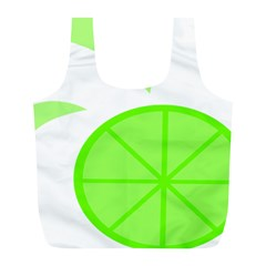 Fruit Lime Green Full Print Recycle Bags (l)