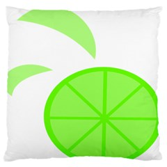Fruit Lime Green Large Flano Cushion Case (one Side)