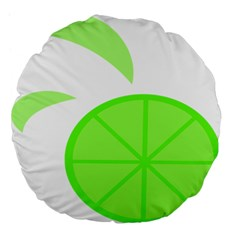 Fruit Lime Green Large 18  Premium Flano Round Cushions
