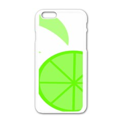 Fruit Lime Green Apple Iphone 6/6s White Enamel Case by Alisyart