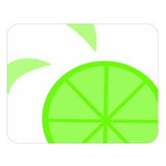 Fruit Lime Green Double Sided Flano Blanket (large)  by Alisyart