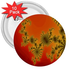 Decorative Fractal Spiral 3  Buttons (10 Pack)  by Simbadda