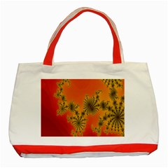 Decorative Fractal Spiral Classic Tote Bag (red) by Simbadda