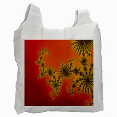 Decorative Fractal Spiral Recycle Bag (one Side) by Simbadda