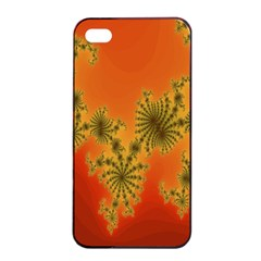 Decorative Fractal Spiral Apple Iphone 4/4s Seamless Case (black) by Simbadda