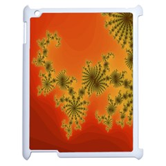 Decorative Fractal Spiral Apple Ipad 2 Case (white) by Simbadda