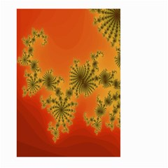 Decorative Fractal Spiral Large Garden Flag (two Sides) by Simbadda