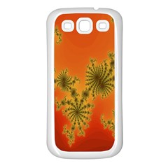 Decorative Fractal Spiral Samsung Galaxy S3 Back Case (white) by Simbadda