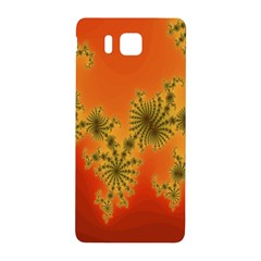 Decorative Fractal Spiral Samsung Galaxy Alpha Hardshell Back Case by Simbadda