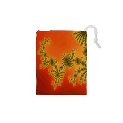 Decorative Fractal Spiral Drawstring Pouches (xs)