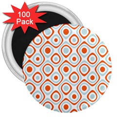 Pattern Background Abstract 3  Magnets (100 Pack) by Simbadda