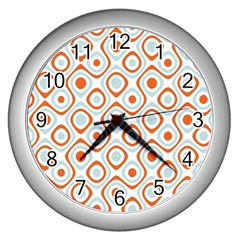 Pattern Background Abstract Wall Clocks (silver)