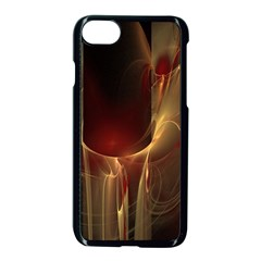 Fractal Image Apple Iphone 7 Seamless Case (black) by Simbadda