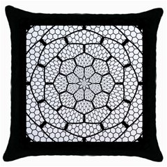 Grillage Throw Pillow Case (black) by Simbadda