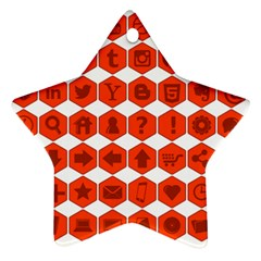 Icon Library Web Icons Internet Social Networks Star Ornament (two Sides) by Simbadda