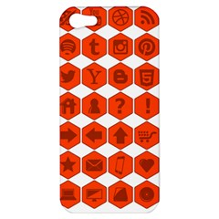 Icon Library Web Icons Internet Social Networks Apple Iphone 5 Hardshell Case