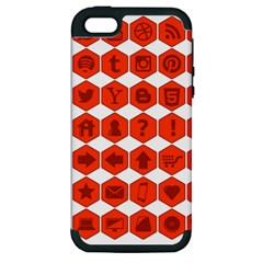 Icon Library Web Icons Internet Social Networks Apple Iphone 5 Hardshell Case (pc+silicone) by Simbadda