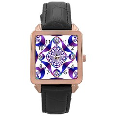 Ring Segments Rose Gold Leather Watch  by Simbadda