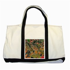 Floral Pattern Background Two Tone Tote Bag by Simbadda