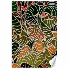 Floral Pattern Background Canvas 20  X 30   by Simbadda