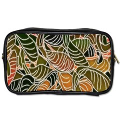 Floral Pattern Background Toiletries Bags by Simbadda
