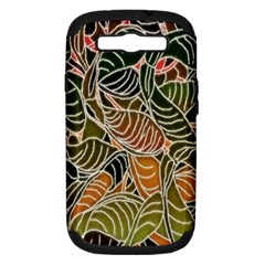 Floral Pattern Background Samsung Galaxy S Iii Hardshell Case (pc+silicone) by Simbadda
