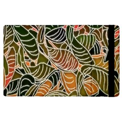 Floral Pattern Background Apple Ipad 3/4 Flip Case by Simbadda