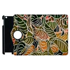 Floral Pattern Background Apple Ipad 3/4 Flip 360 Case by Simbadda