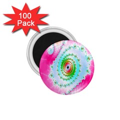 Decorative Fractal Spiral 1 75  Magnets (100 Pack)  by Simbadda