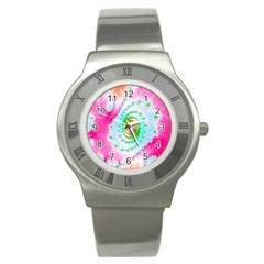Decorative Fractal Spiral Stainless Steel Watch by Simbadda