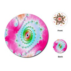 Decorative Fractal Spiral Playing Cards (round)