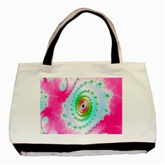 Decorative Fractal Spiral Basic Tote Bag (two Sides) by Simbadda