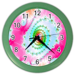 Decorative Fractal Spiral Color Wall Clocks by Simbadda