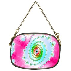 Decorative Fractal Spiral Chain Purses (one Side)  by Simbadda