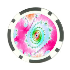 Decorative Fractal Spiral Poker Chip Card Guard (10 Pack) by Simbadda