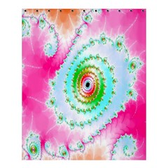 Decorative Fractal Spiral Shower Curtain 60  X 72  (medium)