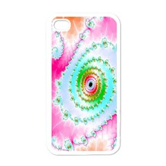 Decorative Fractal Spiral Apple Iphone 4 Case (white) by Simbadda