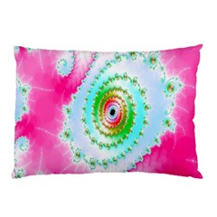 Decorative Fractal Spiral Pillow Case (two Sides) by Simbadda