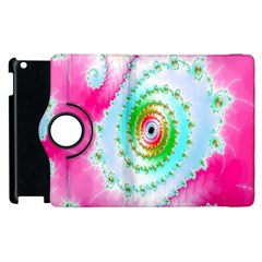 Decorative Fractal Spiral Apple Ipad 2 Flip 360 Case by Simbadda