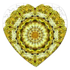 Fractal Flower Jigsaw Puzzle (heart) by Simbadda