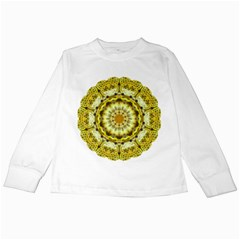 Fractal Flower Kids Long Sleeve T Shirts by Simbadda
