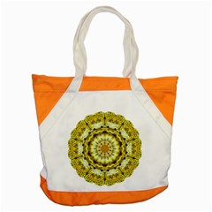 Fractal Flower Accent Tote Bag by Simbadda