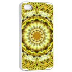 Fractal Flower Apple Iphone 4/4s Seamless Case (white) by Simbadda