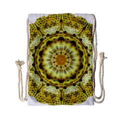 Fractal Flower Drawstring Bag (small) by Simbadda