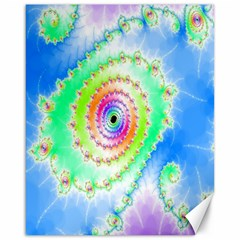 Decorative Fractal Spiral Canvas 16  X 20