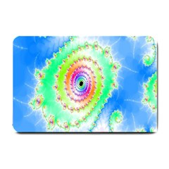 Decorative Fractal Spiral Small Doormat  by Simbadda