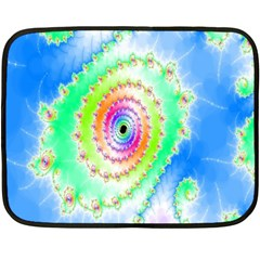 Decorative Fractal Spiral Fleece Blanket (mini) by Simbadda