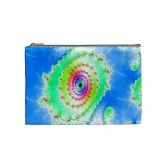 Decorative Fractal Spiral Cosmetic Bag (medium)  by Simbadda